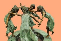 Four Maidens patinated bronze figural fountain Hot Cast Large Sculpture Figurin