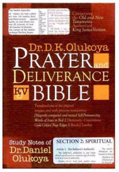 KJV Olukoya Prayer And Deliverance Bible Compact Burgundy $34.12