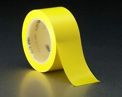 3M Vinyl Tape 471 Yellow 14 in x 36 yd 144 individually wrapped rolls per