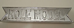 ROLE MODEL Office Desk Silver Paperweight Engraved $14.99