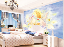 3D Moon Paint Horse 105 Wall Paper Wall Print Decal Wall Deco AJ US Carly