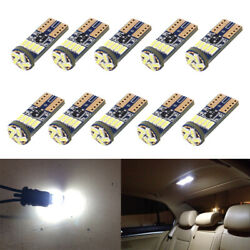 10 x White LED T10 194 168 W5W Interior Map Dome Trunk License Plate Light Bulbs $9.98