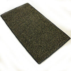 Taupe Black Indoor Outdoor Economy Turf Artificial Grass Area Rug Custom Cut
