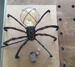 Steampunk Table Lamp quot;Spiderquot; with a lamp Edison custom made for home. $780.00