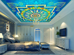 3D Feather Floral Pattern 232 Ceiling Wall Paper Wall Print Decal Wall Deco AJ