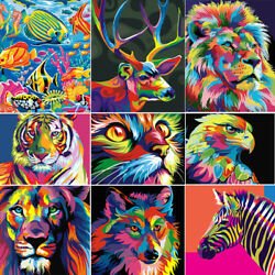 Abstract Animal DIY Paint Oil Painting By Number Kit On Canvas Home Wall Decor