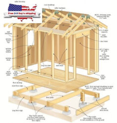 Building Sheds Storage Utility Detailed Plans DIY Blueprints Design Installing