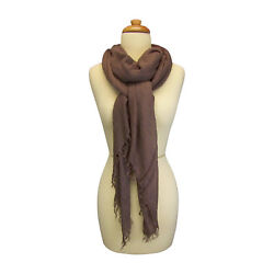 Blue Pacific Tissue Cashmere and Silk Scarf in Milk Chocolate Brown