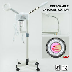 2In1 Hot Spray Facial Steamer 5x LED Magnifying Lamp Beauty Salon Face Skin Care $83.99