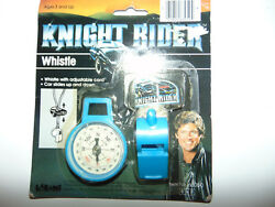 1982 LARAMI Knight Rider BLUE Compass and Whistle Novelty Pack NEW IN PACK $16.99