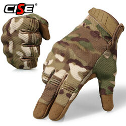 Men Touch Screen Breathable Full Finger Gloves Tactical Hunting Motorcycle Glove $11.69