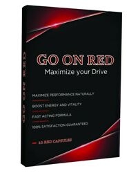 Go On Red Natural Male Enhancement Performance Stamina booster 10 Red Pills $29.95