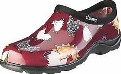 Sloggers Women's Waterproof Rain and Garden Shoe with Comfort Insole Chickens B