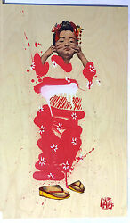 Hand Finished Ernest Zacharevic Japanese Girl chevrier Beejoir Whatson Banksy