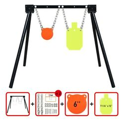 AR500 Steel Shooting Target Stand System 1 Stand 2 Chainsamp; 6quot;Gong7quot;x12quot;Torso $140.00