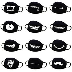 Unisex Cotton Anime Mouth Face Mask Anti-Dust Cycling Respirator Emoji Mask US