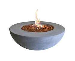 Elementi Outdoor Lunar Fire Bowl 42 Inches Natural Gas Fire Pit Table