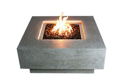 Elementi Outdoor Manhattan Fire Pit Table 36 x 36 Inches Natural Fire Bowl