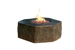 Elementi Outdoor Columbia Fire Pit Table 40 x 36 Inches Natural Gas Fire Bowl