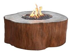 Elementi Outdoor Manchester Fire Pit Table 42 x 40 Inches Natural Gas Fire Bowl