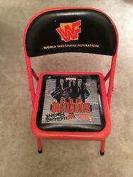 WWF WWE SURVIVOR SERIES 1997 CHAIR Bret Hart Shawn Michaels Signed Authentic