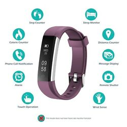 Fitness Tracker Wristband Heart Rate Fit Smart Watch Sports Activity Monitor