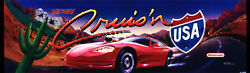 CRUIS#x27;N USA CRUSIN Arcade Marquee For Reproduction Header Backlit Sign $15.75