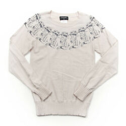 Chanel Coco Mademoiselle Pattern Cashmere Knit Tops Off 38 31758 (105945