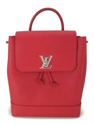Louis Vuitton Backpack Leather Bag Red (64544