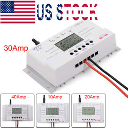 10203040 Amp Solar Charge Controller MPPT 1224V Three-time Timer with USB US
