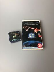 RARE E.T. The Extra Terrestrial Clamshell VHS THX Remaster & ET Avon Soap Bundle