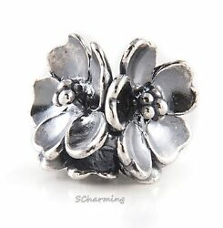 Authentic Trollbeads Silver Apple Blossom TAGBE-40086 Mother's Day 2016