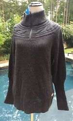 New-Columbia Gray 14 Zip She Pines For Alpine Sweater L-Large