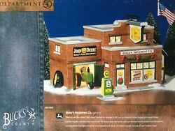 Dept 56 Snow Village® ABNER'S IMPLEMENT TOTAL OF 4 BRAND NEW IN THE CASE