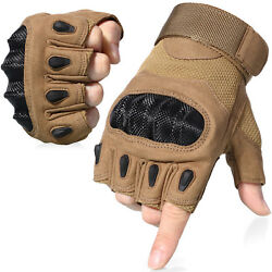 Assault Half Finger Tactical Gloves Fingerless Motorcycle Cycling Shooting Mens $9.49