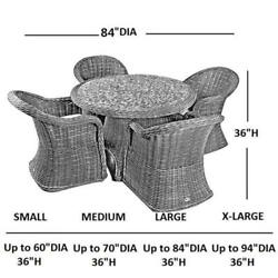 Abba Patio Outdoor Round Table And Chair Set Cover Porch Furniture Cover Waterpr