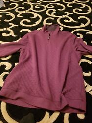 Tasso Elba Mens XL Maroon Sleeve Elbow Patches 1 4 zip Collared Pullover NWT $75 $8.00