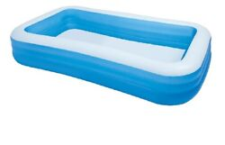 Intex Giant Inflatable Kiddie Pool - Family and Kids Inflatable Rectangular Pool