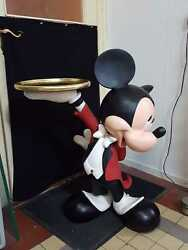 Extremely Rare! Walt Disney Mickey Mouse Butler Lifesize Figurine Statue