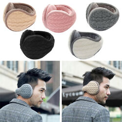 Men Women Winter Outdoor Earmuffs Thick Cashmere Thermal Ear Cover Wrap Knit Fur