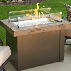 OUTDOOR GREATROOM PROV-1224-MNB-K Providence Fire Pit Brn Base Marble Top Brown