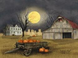 Harvest Moon by Billy Jacobs Country Barn Pumpkins Moon Print 16x12