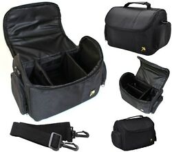 Pro Deluxe Large Camera Carrying Case For Canon Vixia HF R800 R82 R80 GX10 $19.95