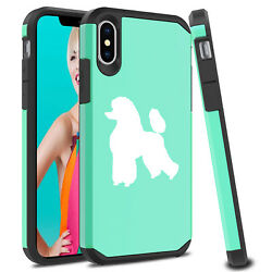 For Apple iPhone X XS MAX XR Shockproof SI Hard Case Cover Protector Poodle $14.99