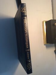 She Stoops to Conquer by Oliver Goldsmith Collector's edition from Easton Press