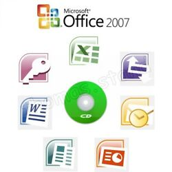 Microsoft Office 2007 Professional Full Version Access Excel Word 5 Computers
