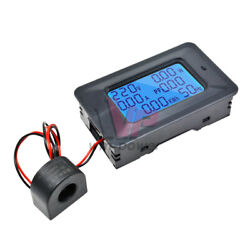 6 in 1100A 110 250V Current Digital LCD Panel Power Monitor Voltmeter Ammeter $10.47