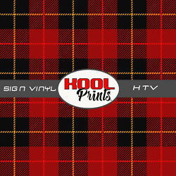 Kool Prints™ RED PLAID 1237 Pattern Printed Vinyl Printed Patterned Vinyl HTV