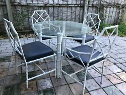 Vintage Brown Jordan? Faux Bamboo Calcutta Chinese Chippendale Patio Dining Set