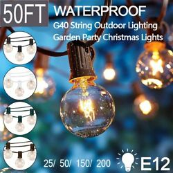 1 50 1000 Led Bulb E12 48ft Globe Light Outdoor Patio String Light Vintage FA